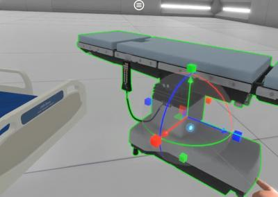surgical table VR for training
