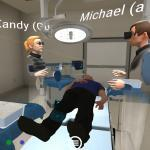 Multiplayer VR learning in operating room