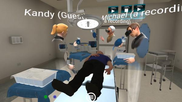 Virtual reality IPE collaboration for sim lab medical training