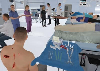 library of patients and assets for healthcare training in VR
