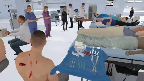 medical VR sim lab devices and equipment