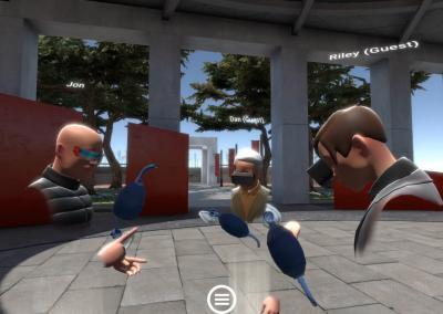 students working together in VR multi-player