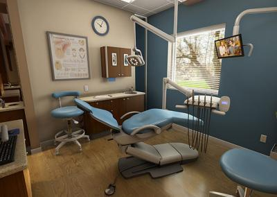 Dental equipment in 3D virtual simulation