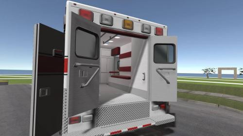 Ambulance simulation in 3D VR multiplayer online classroom