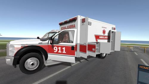 Ambulance in virtual classroom for paramedic emt and nurse training using multiplayer oculus rift