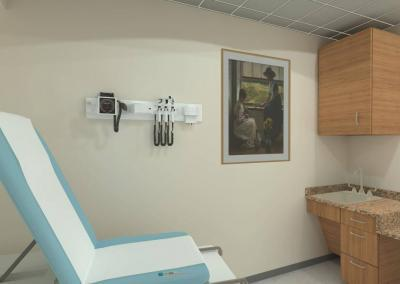 A 3D VR training exam room for nurses and physicians