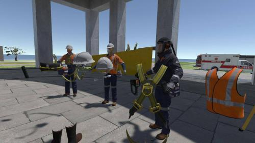 Mining VR safety training assets in Oculus Rift scenario