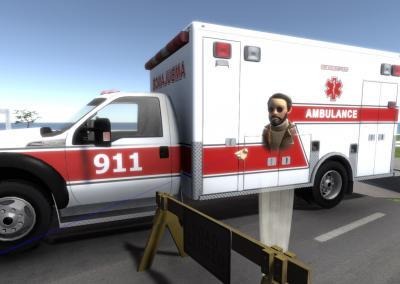 Ambulance asset in VR training simulation