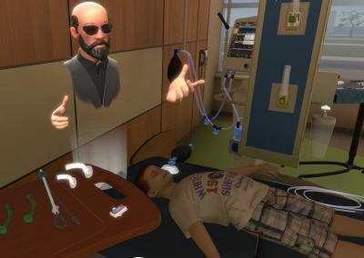 VR medical training central line training
