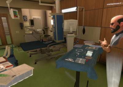 Central line setup in virtual reality