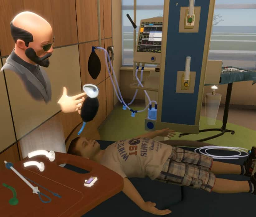 avatar describing virtual training for pediatric airway readiness