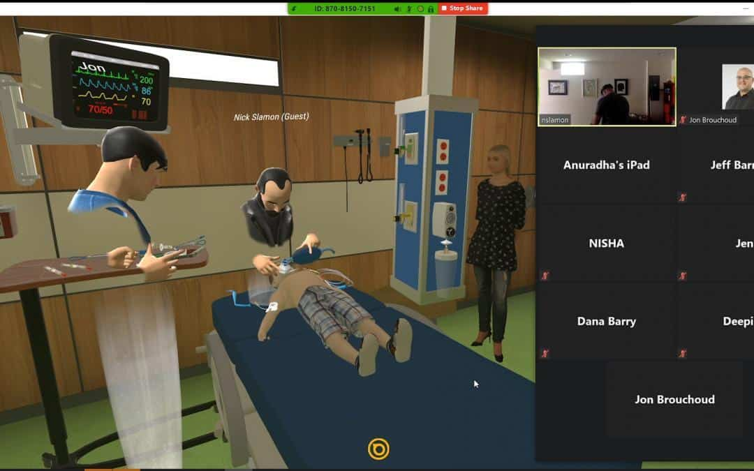VR Medical Simulation: Tachycardia and Hypotension in a Febrile Child
